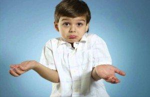 kid shrugging