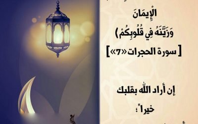 الجزء ٢٦/ وَلَٰكِنَّ اللَّهَ حَبَّبَ إِلَيْكُمُ الْإِيمَانَ وَزَيَّنَهُ فِي قُلُوبِكُمْ